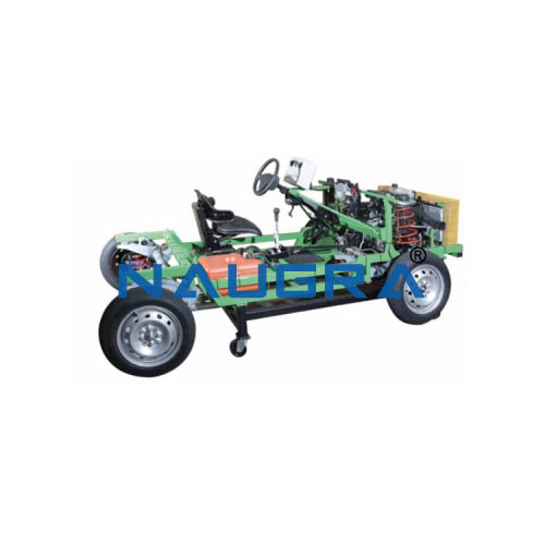 Fully Functional Cut Section Model Of Chassis With Multipoint Petrol Engine