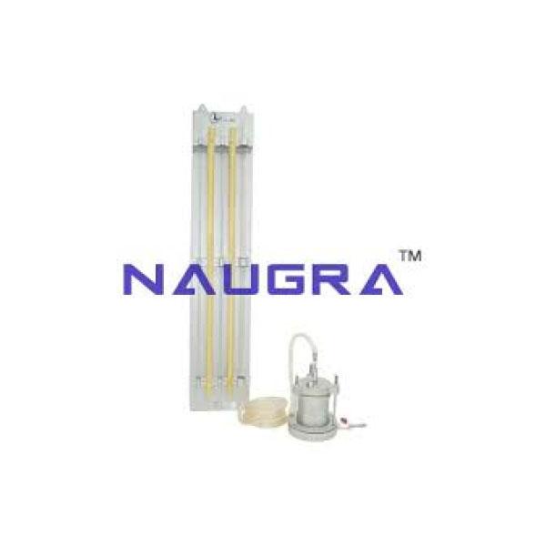 Permeability and Fluidisation Studies Apparatus