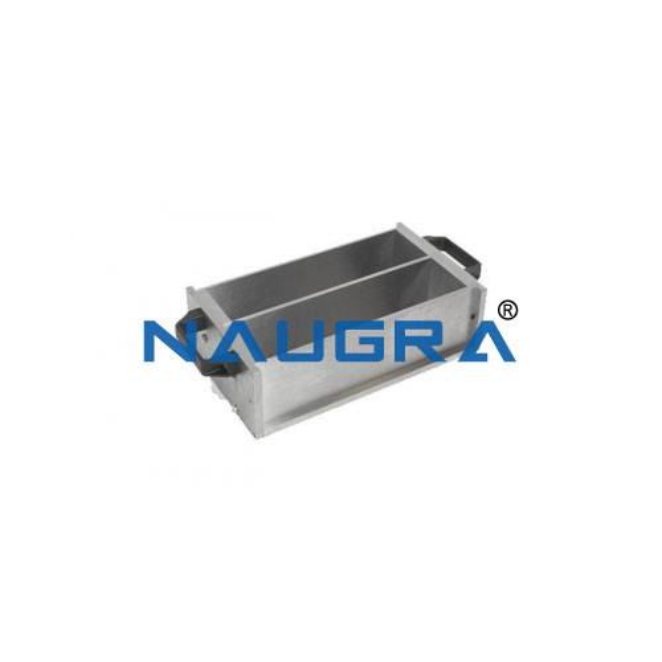 Prism mould 75x75x285 mm to UNI