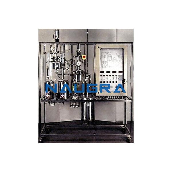 Manual Stirred Continuous Reaction Pilot Plant
