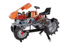 Cut Model Of Agricultural Tractor