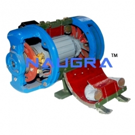 Sectional Front View Of DC Motor
